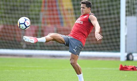 alexis sanchez unsettled unsettled sanchez back in training with arsenal world