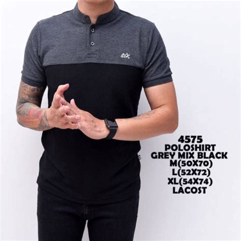 Tshirt Kaos Baju Xiaomi kgk baju kaos tshirt kerah shanghai polo six grey black