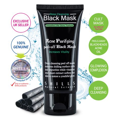 shills authentic cleansing peel black mask blackhead remover 50ml ebay