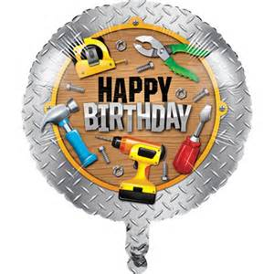 Man Baskets Handyman 18 Balloon Tools Carpenter Happy Birthday Party