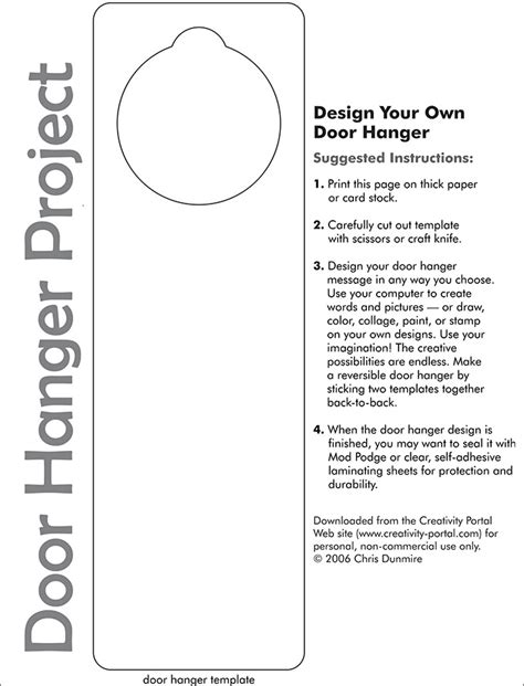 free door hanger templates door hanger template free premium templates