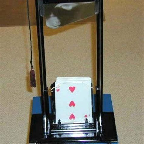 guillotine for card card guillotine by milson worth martin s magic collection