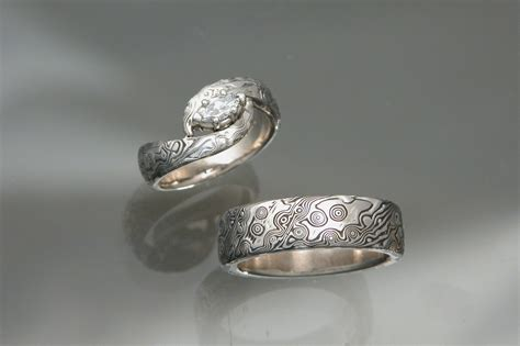 Palladium Wedding Rings by The Of The Big Day With Glittery White
