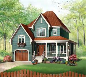 Small 2 Car Garage Homes Cute House Plan 65411 At Familyhomeplans Com