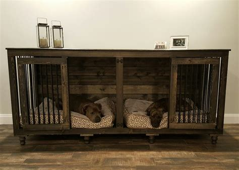 Kennel Furniture the doggie den indoor rustic kennel for two