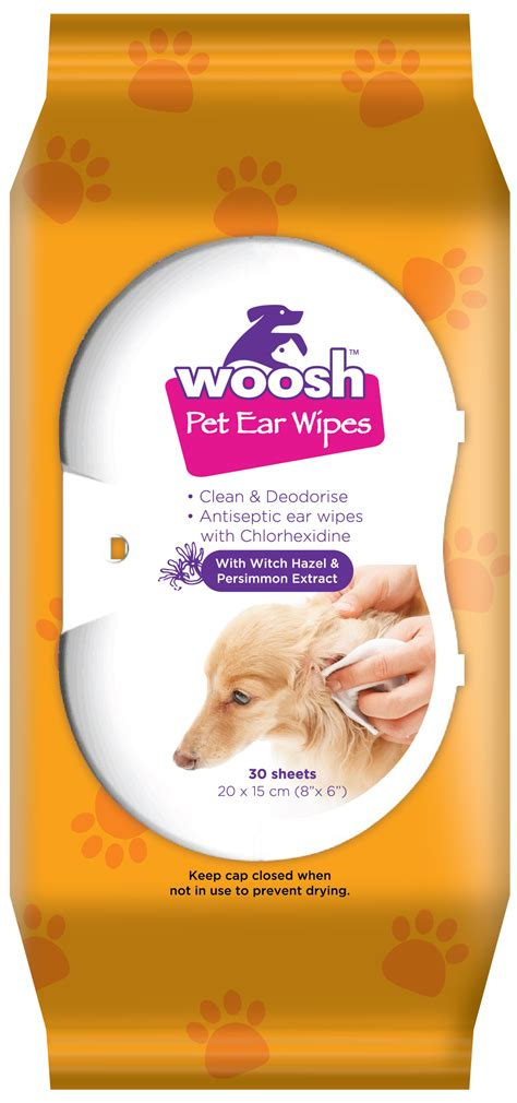 woosh pet ear wipes  hospeco australia