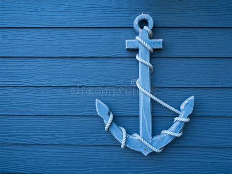 wallpaper jangkar anchor wooden blue background stock image image of