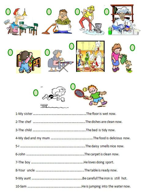 pattern for present continuous tense present continuous tense worksheet
