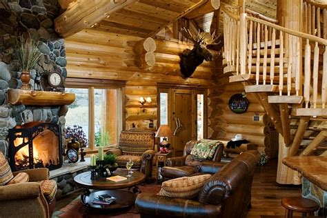 rustic decorating ideas log cabin bring home some inviting warmth with the winter cabin style
