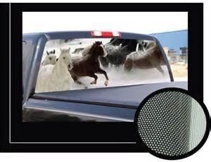 horses 1 22 quot x 65 quot rear window graphic truck