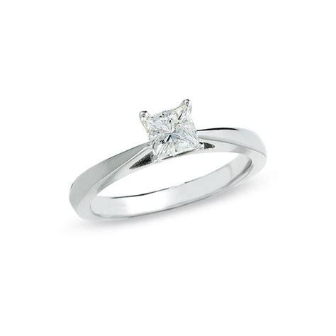 Alluring Solitaire Diamond Ring Half Carat Princess Cut