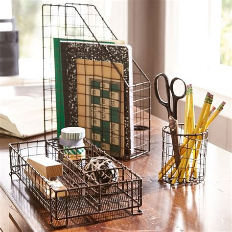 black wire desk accessories wire desk accessories pbteen