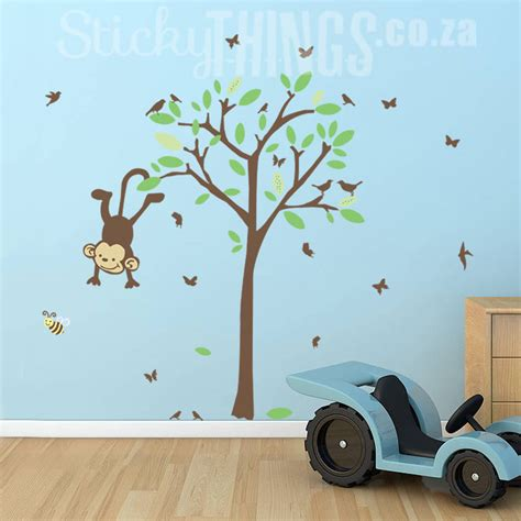 nursery tree wall decals monkey tree nursery wall decal monkey tree wall sticker