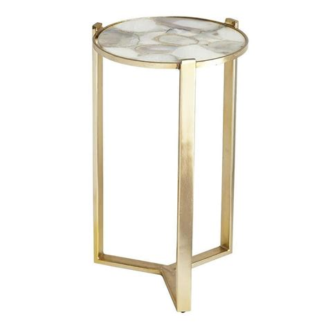 Agate Home Decor by Agate Brushed Metal Side Table