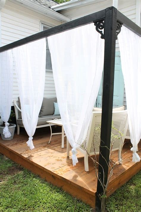 Patio Curtains Diy by Best 25 Outdoor Cabana Ideas On Diy Outdoor