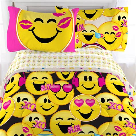 bed emoji emoji complete 4 piece girls bedding set twin bedsets4