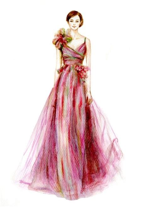 fashion illustration with colored pencils fashion created with colored pencils 10 fashion