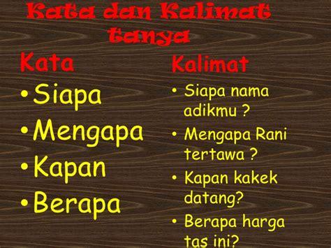Bangun Kalimat Bahasa Indonesia membuat kalimat bahasa indonesia kelas 2 sd