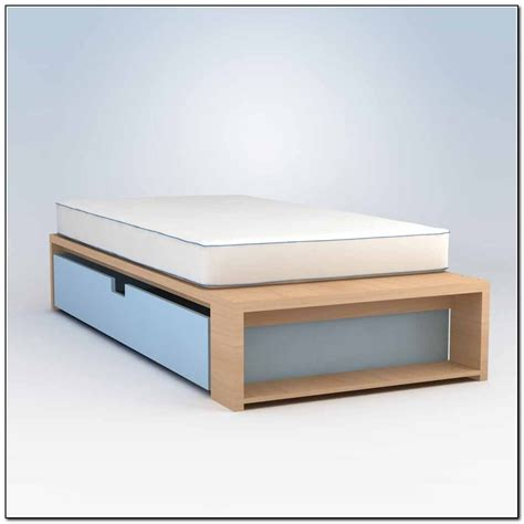 platform twin bed frame extra long twin storage bed drawers in pine platform frame with interalle com