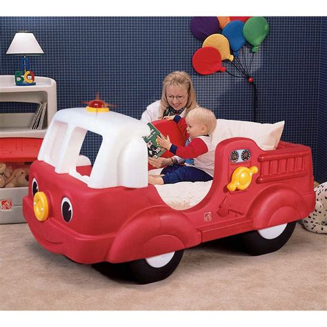 step 2 fire engine toddler bed