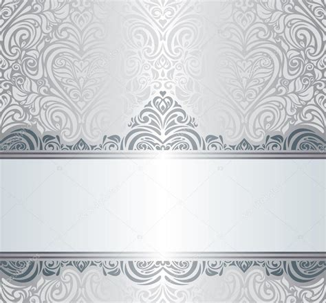 silver layout vector silver luxury vintage invitation background design stock
