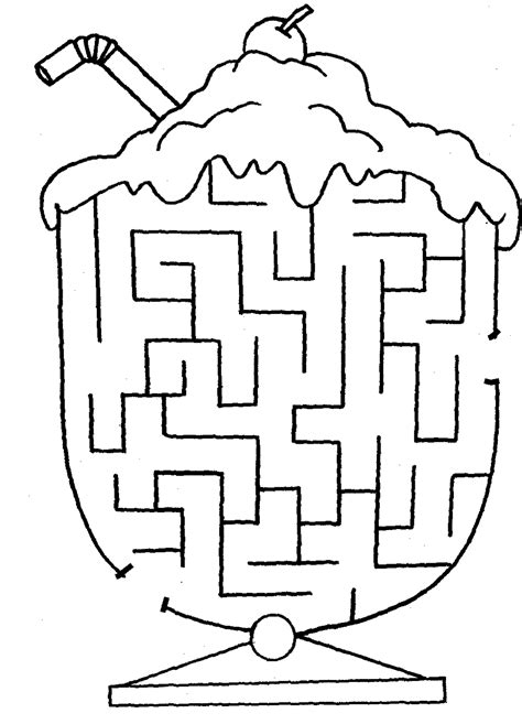 easy maze worksheet for kindergarten kids games easy
