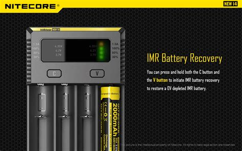 Nitecore New I4 Original Intellicharger Battery Charger 4slot 18650 nitecore intellicharger universal battery charger 4 slot for li ion and nimh new i4 black