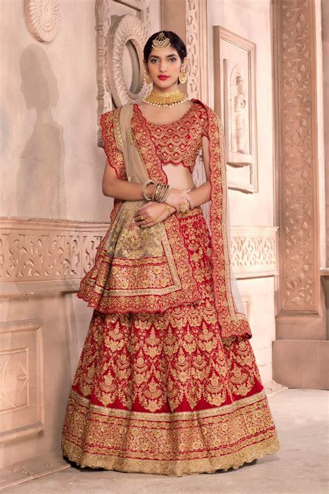 Lehenga Exclusive India 09 buy indian bridal wedding lehenga canada marron indian bridal lengha with zari embroidery