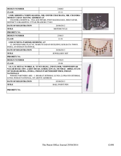 List Of Section 25 Companies by Design Patent Publication In India By Intellectual
