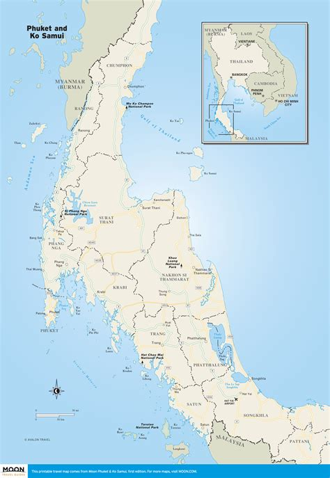 printable map thailand printable travel maps of thailand moon travel guides