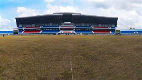pengerjaan fasilitas pendukung stadion mandala krida