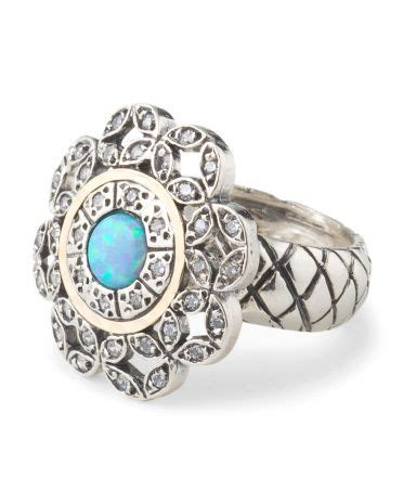 Israel Sweepstakes - made in israel sterling silver 14k gold accent opal flower ring tjmaxx maxx