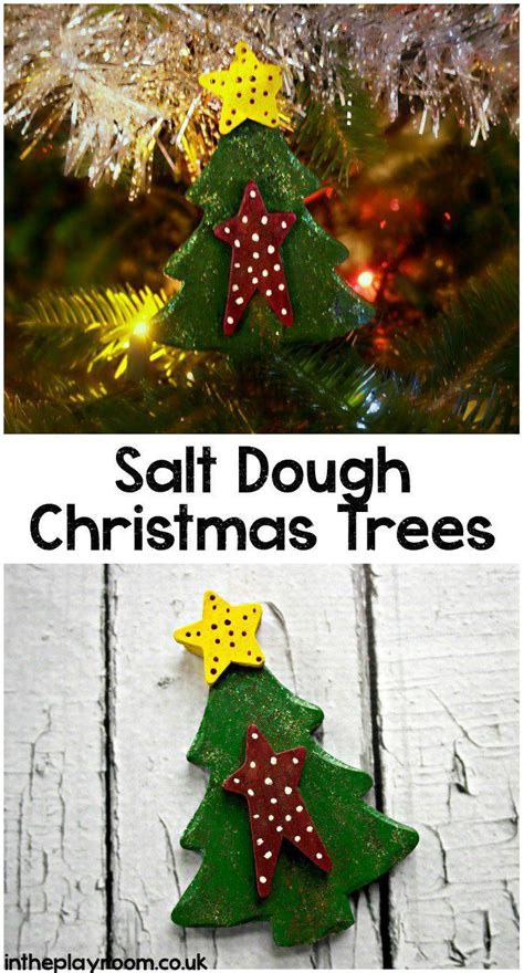 salt dough christmas tree decoration christmas