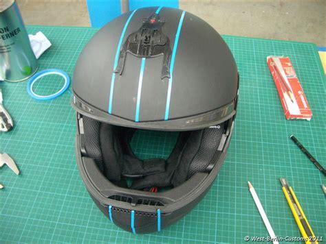 design folien helm individuelles rot wei 223 es helm dekor 171 west berlin customs