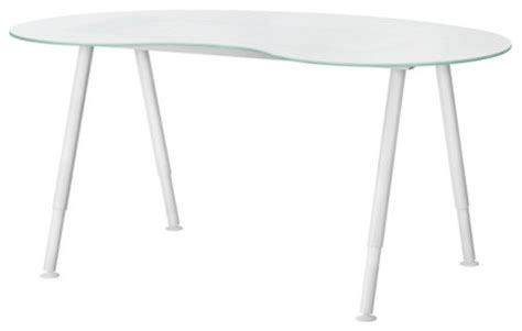 Does Houzz Have The White Glass Galant Kidney Shaped Desk Kidney Shaped Glass Desk