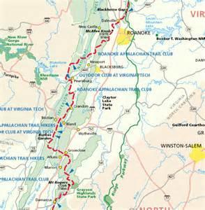 appalachian trail map virginia map travel