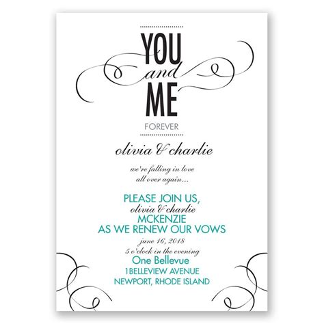 wedding renewal announcement wording you and me vow renewal invitation invitations by