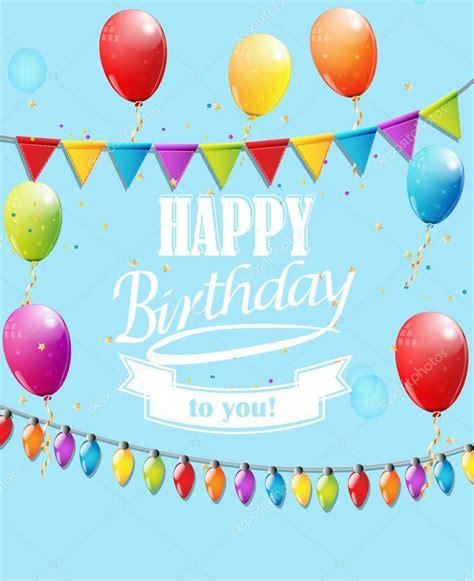 imagenes vectoriales feliz cumpleaños plantilla para tarjeta del feliz cumplea 241 os archivo