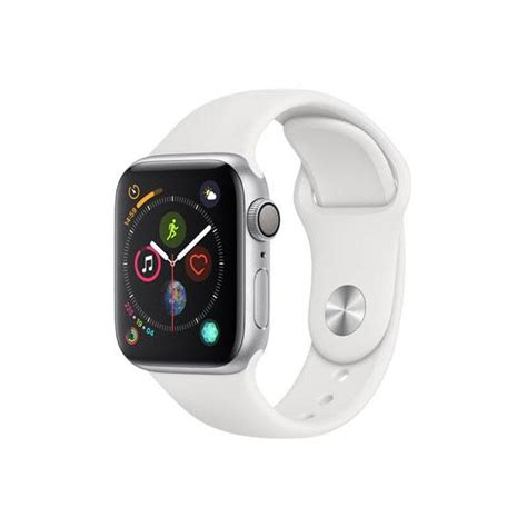 Apple Series 4 White by Apple Series 4 Gps 40mm Silver Aluminium White Sport Band