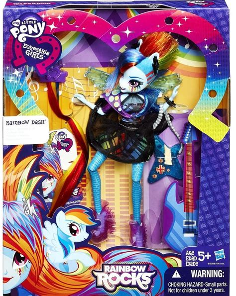 Equestria Rockin Hairstyle Dolls by My Pony Equestria Rainbow Rocks Rainbow Dash