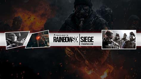 rainbow  siege youtube channel art banner