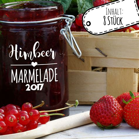 Aufkleber Marmeladen by Aufkleber F 252 R Marmelade Etikett Marmeladenglas Himbeer