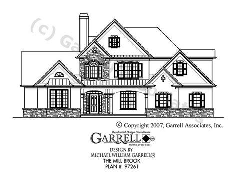 mil house plans mill brook house plan house plans by garrell associates