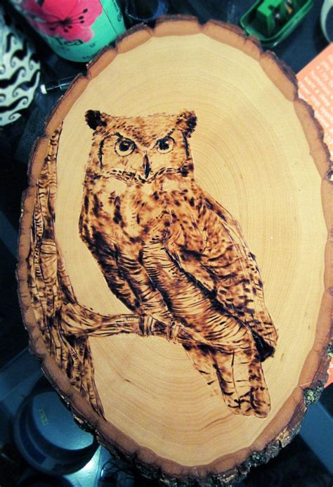 easy wood burning owl      great tips