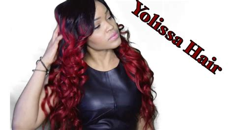 aliexpress yolissa hair aliexpress yolissa hair burgundy ombre beauty youtube