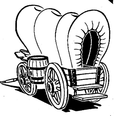 covered wagons coloring pages