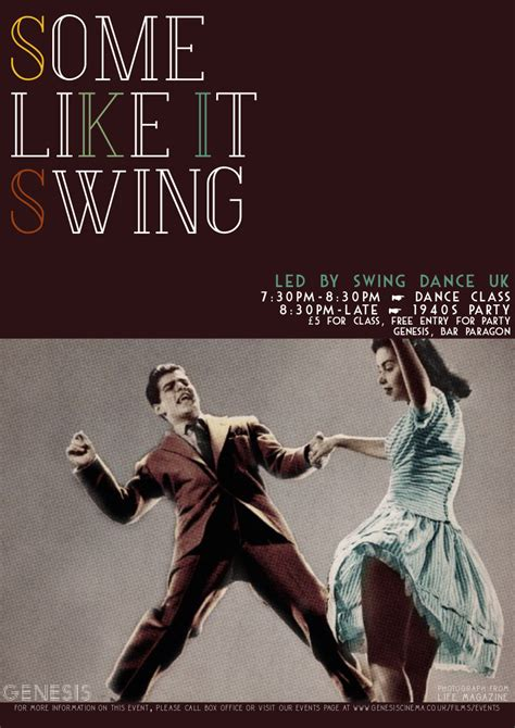 swing dance posters some like it swing swingdance uk