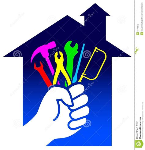 Home Remodel Design Tool house renovation logo stock photography image 19405572
