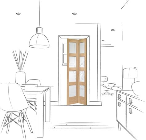 shaker glass doors shaker bi fold internal oak door with clear glass