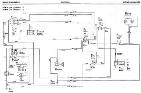 wiring diagram for deere stx38 wiring wiring